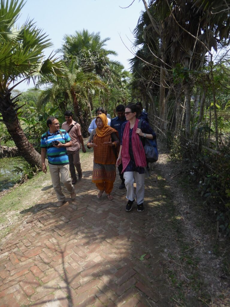 The authors on their way to visit a clean water project in Morrelganj Bangladesh